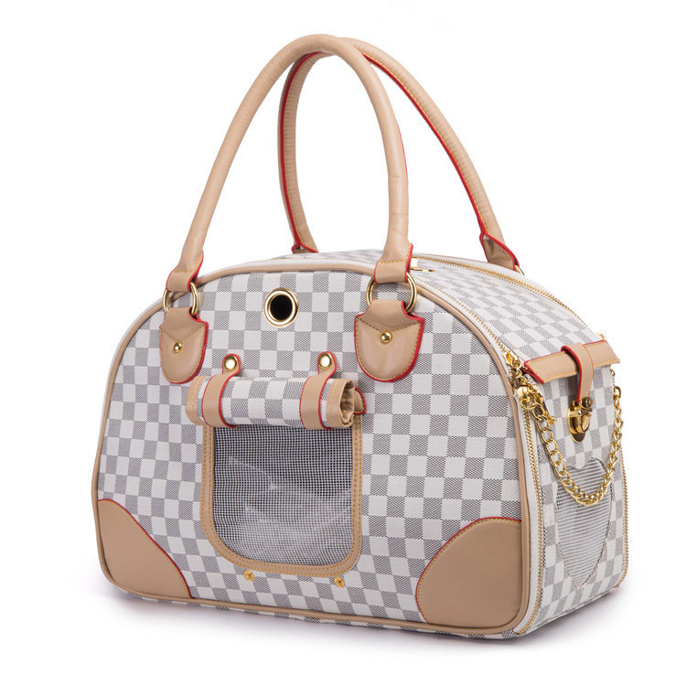 2016 New Arrival Hot Sale Luxury PU Leather Dog Carrier Bag High Quality Small Dog/Cat Carrier Bag Portable Dog Carrier Handbag(China (Mainland))