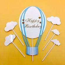 1 компл. С Днем Рождения Кекс торта Топпер флаги Baby Shower День рождения украшения Для детей Микки Мышь топперы поставки(China)