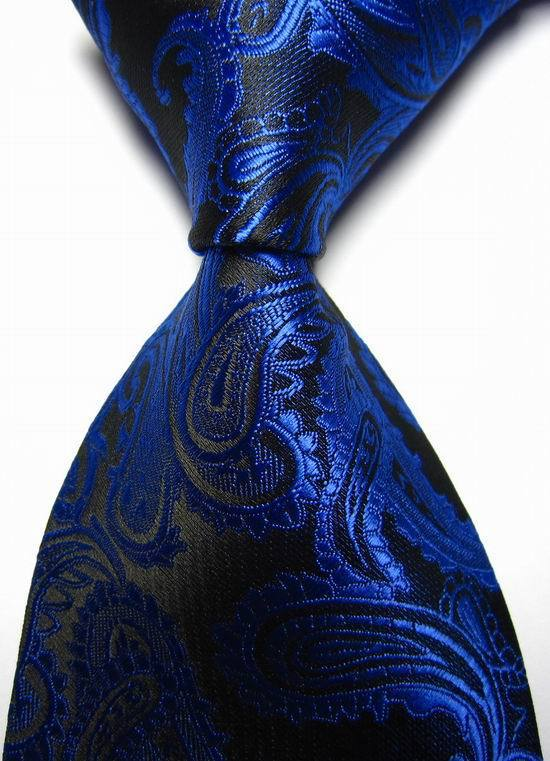 Tie Necktie Black Blue Red