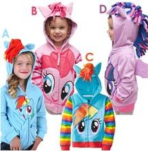 1PCS My little pony Kids Girls and boys jacket Children's Coat Cute Girls Coat, hoodies, girls Cotton Jacket children clothing(China (Mainland))