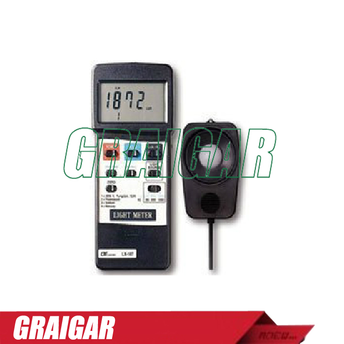 Free Shipping  LUTRON LX - 107 intelligent memory type spectrophotometer LX107 illuminance meter<br>