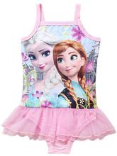 Girls Swimwear Anna Elsa Bikini Meisje Swimsuit Kids Ruffled Swimming Suit For Girl Children Bathing Suit Maillot de bain Fille(China (Mainland))