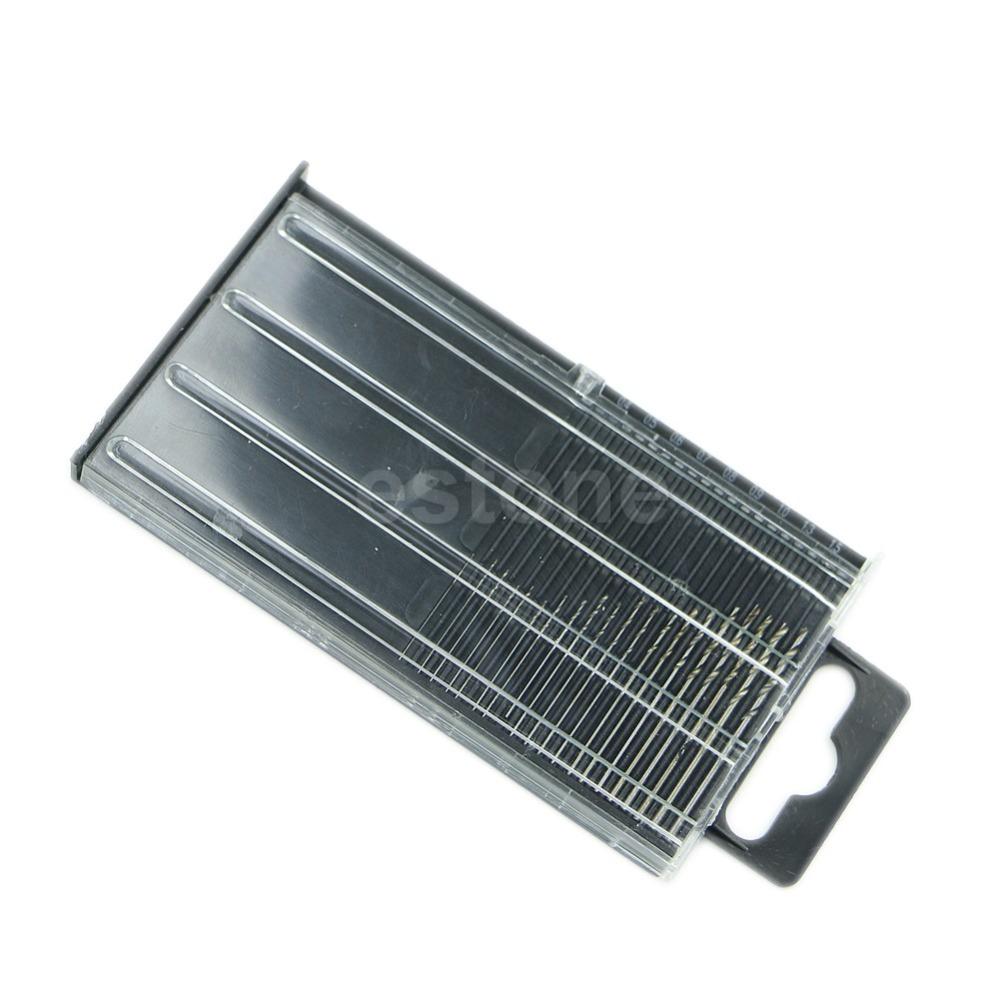 Гаджет  20x MICROBOX Tiny Micro HSS Twist Drill Bit Set 0.3mm-1.6mm Model Craft w/ Case None Инструменты