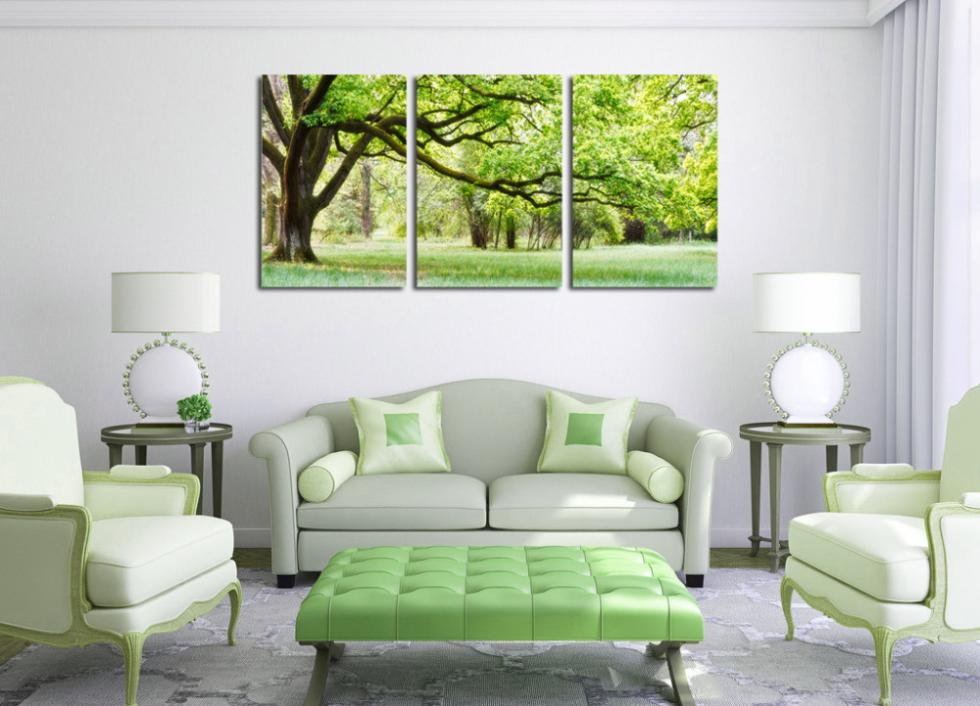 3 Panel Modern Painting Home Decorative Art Picture Canvas Prints Green Tree