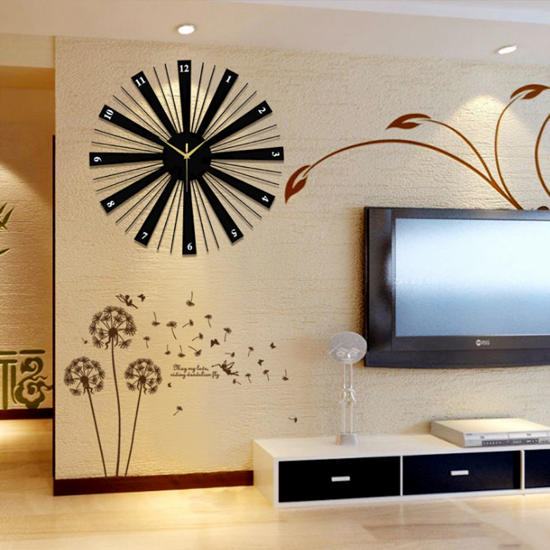 Modern Home Decoration Watch Wall Silent Large Round Wall Clock Design For Living Room Wall Decor Wall Clocks Aliexpress