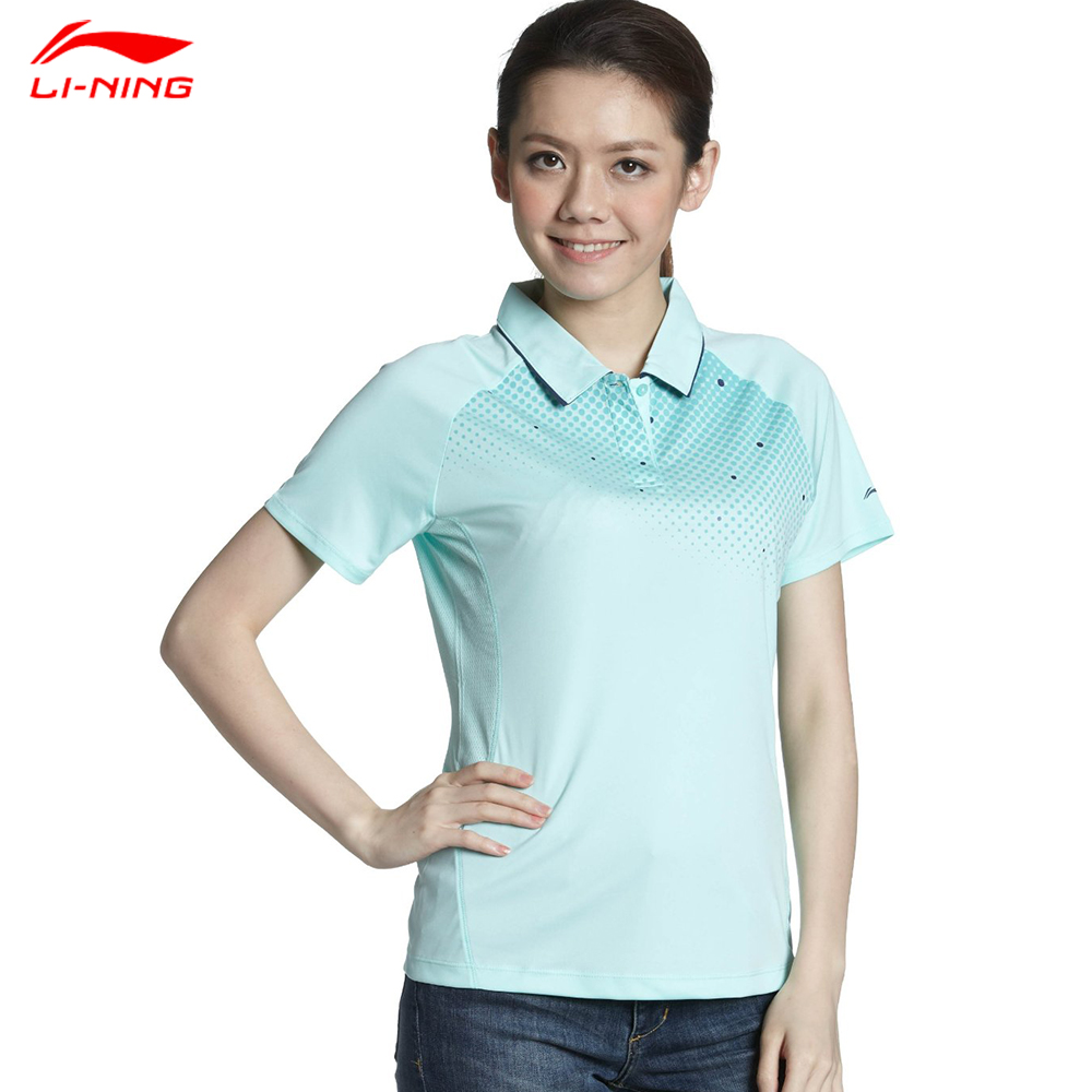 Hot Li-Ning Fashion Women Quick Dry Tennis Polo Breathable Sport Polo Shirt lining APLG122<br><br>Aliexpress