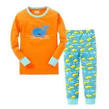 pajamas for girls 2016 new cute heart cotton cartoon pajamas fashion quality long sleeve sleepwear sets baby girls birthday gift(China (Mainland))