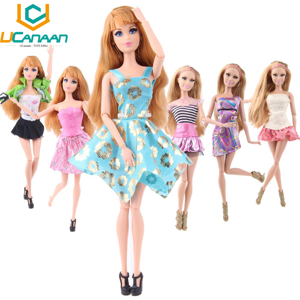 Randomly Pick Barbie Clothes A Lot = 10 Sets Fashion Lady Outfit Wear Blouse Trousers Shorts Pant Skirt Clothes for Barbie Doll(China (Mainland))
