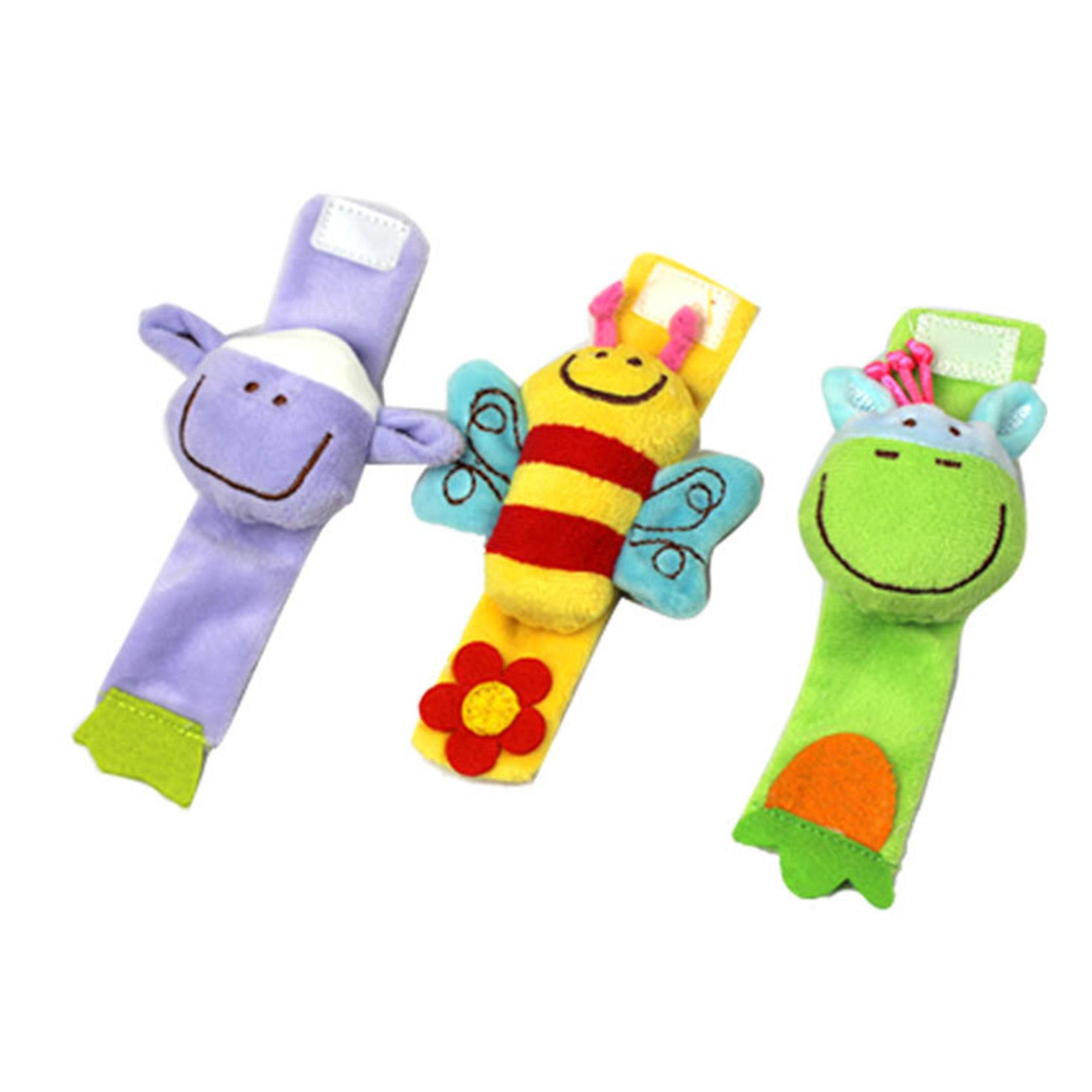 1 Piece Baby Infant Toy Baby Wrist Strap Soft Toy Cute Cartoon Animal Plush Rattle Strap<br><br>Aliexpress