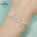 PINJEAS Custom Name Bracelet unique Personalized Words Letters Filled wire wrap Kids especially Girls Bridesmaid Gift