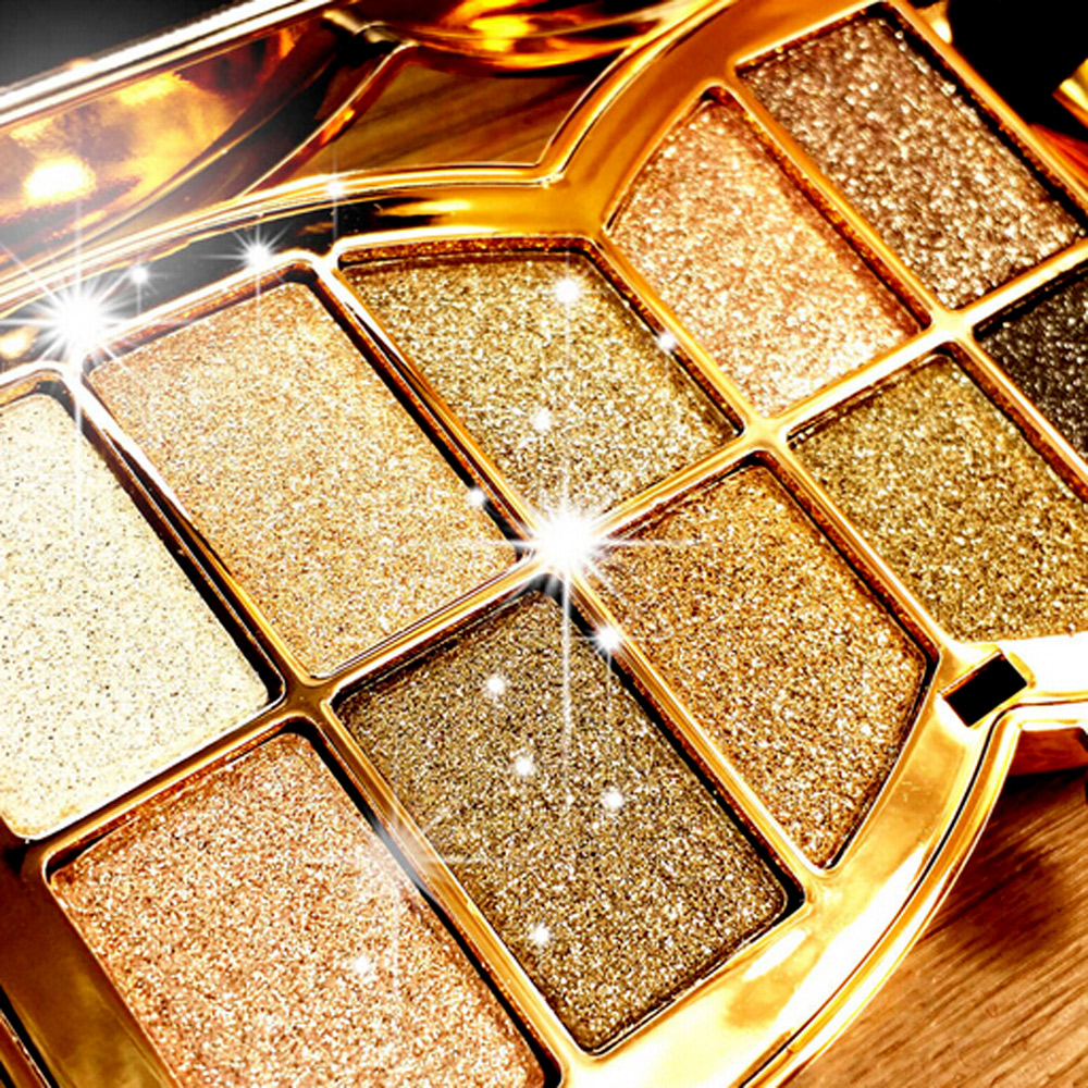 2016 New 10 Full Colors Eyeshadow Cosmetics Mineral Glitter Make Up Professional Makeup Eye Shadow Palette Kit(China (Mainland))