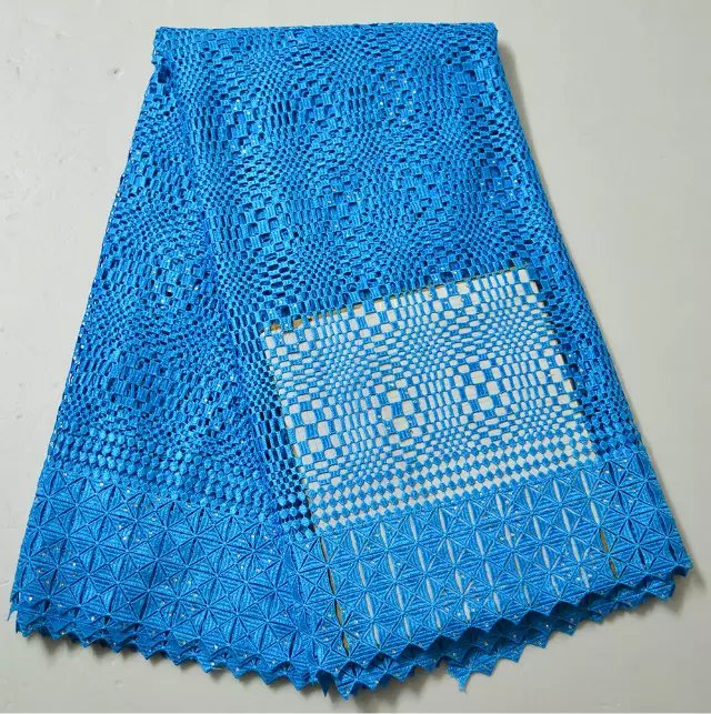Здесь можно купить  Free shipping!blue african swiss guipure lace fabric/ 100%cotton materials african cupion lace for lady party clothing MJKY3995G  Дом и Сад