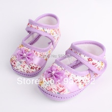 Girls flowers bow baby toddler shoes autumn Soft Sole Footwear First Walkers For Baby Girls11cm 12cm