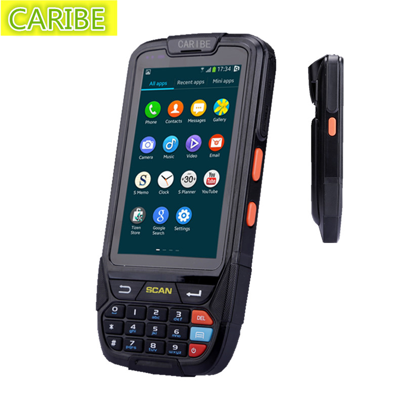 Caribe PL-40LAb063 Industrial android 5.1 2D wireless rugged handheld mobile terminal barcode scanner(China (Mainland))