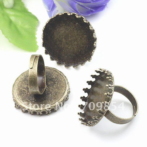 free ship!!! 25mm antique brass bronze plated crown shape ring base/lead free nickel free<br><br>Aliexpress