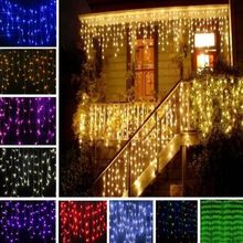Buy 4M LED Curtain Light 96 LEDs Waves Wedding Party Fairy String Lights Christmas Lamp Stage Holiday light Hotel Bar Club Supplies for $9.23 in AliExpress store