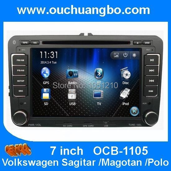 Car Multimedia Stereo Headunit Autoradio Sat Nav Navigation VW Sagitar Magotan Passat wholesaler price OCB 1105