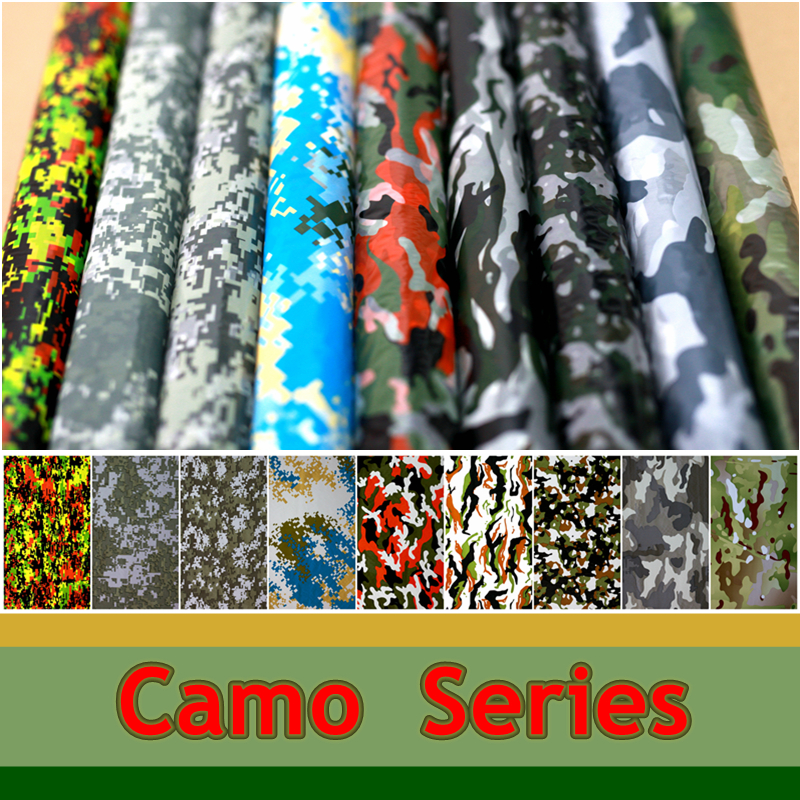 Camouflage Series Water Transfer Printing Films Aqua Print Films For Motorcycle/car/home decoration 50CM Wide Hydrographics Film(China (Mainland))