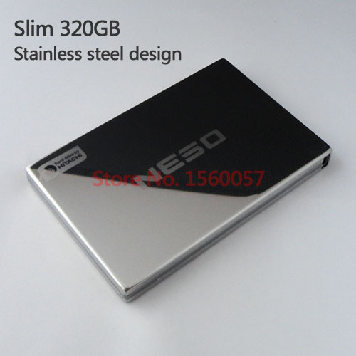 Free shipping NESO Slim Mobile HDD External Hard Drive 320G Wholesale 2.5'' Portable Hard Disk USB2.0 Stainless steel design(China (Mainland))