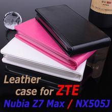 100% Mobile Phone Leather Case ZTE Nubia Z7 Max / Z 7 NX505J 5.5 inch Flip Cover Cellphone Shell Housing - WINSON (HK store CO.,LTD)