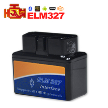 2016 High Performance Super Mini ELM 327 Bluetooth OBDII Auto Diagnostic Tool Supports Almost All OBD2 Protocols ELM327(China (Mainland))