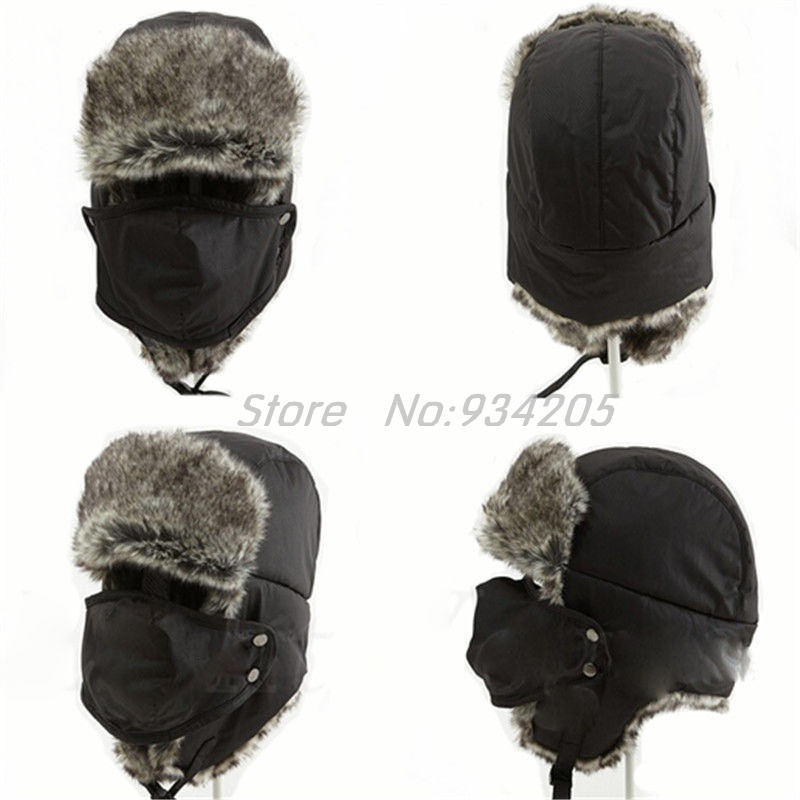 New 2016 Winter Warm Earflap Bomber Hats Adult Fur Lined Trapper Men Russian Cossack Aviator Earflap Snow Ski Cap Hotsale(China (Mainland))