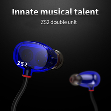 Buy ZS2 Double Unit Hifi In-Ear Headphones Bass fone de ouvido Hi Fi Music Earphone Auriculares Sports Headset Mobile Earbuds Mic for $22.52 in AliExpress store