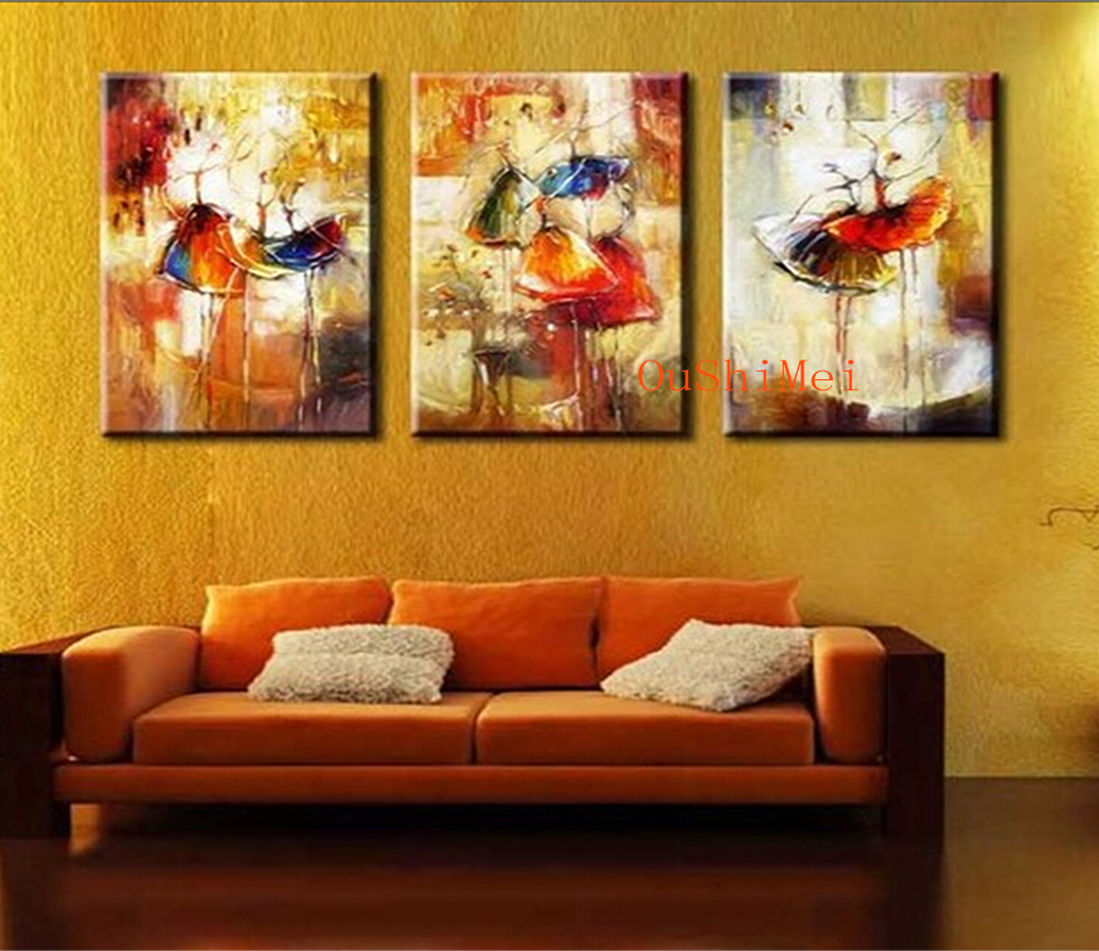 Hand painted abstract paintings cheap picture modern knife for Where to buy canvas art