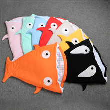 XH-064 newborn shark sleeping bag for winter stroller bed swaddle blanket wrap cute cartoon bedding sleeping bags 8 colors(China (Mainland))