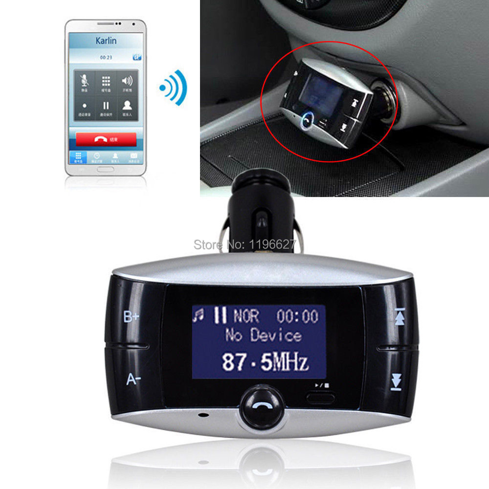 Car Kit Bluetooth MP3 Player Hands Free MIC iPhone Samsung Modulator SD MMC USB Remote Control Wireless FM Transmitter - xtopmall store