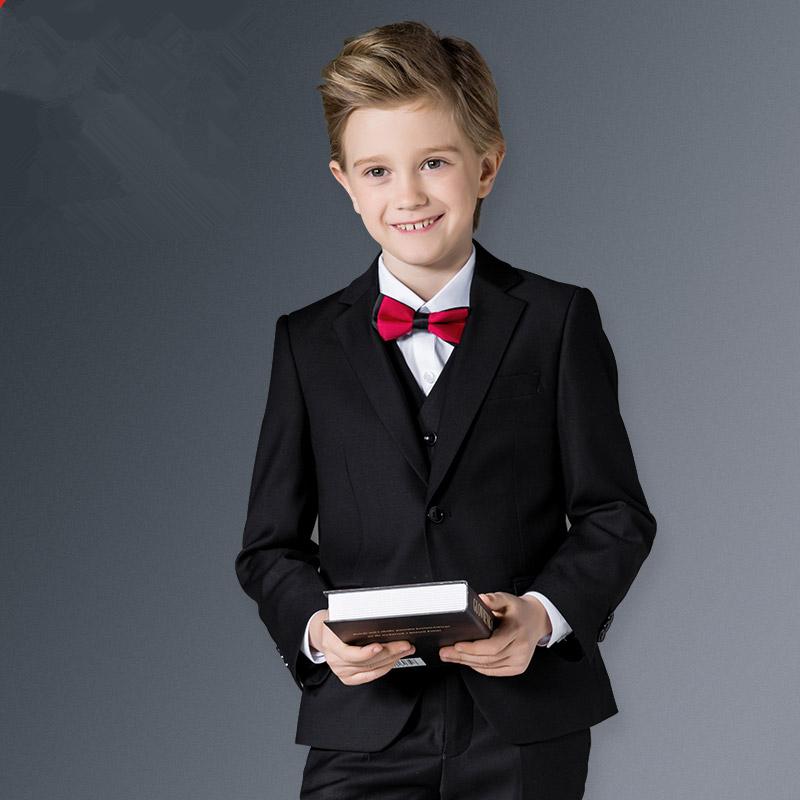 BEIBEI Children Suit Baby Boys Suits Kids Blazer Boys Formal Suit For Weddings Boys Clothes Set Jackets+Vest+Pants 3pcs 5-14Y(China (Mainland))