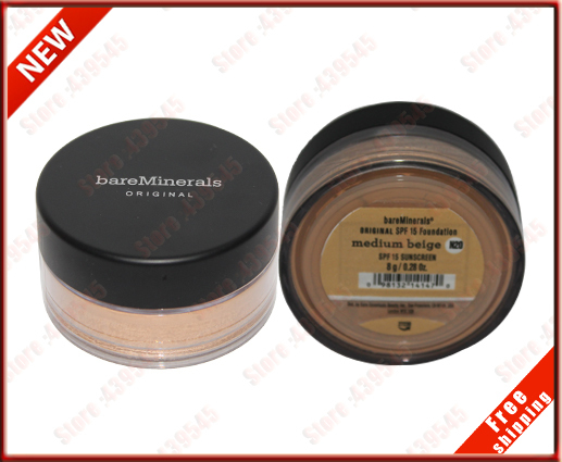 100% authentic Cosmetic Make up Bare Escentuals Bulk Fix High Cake Makeup Mineralize Foundation Powder 8g N20 Kit Set 1Pcs 1 Pcs(China (Mainland))