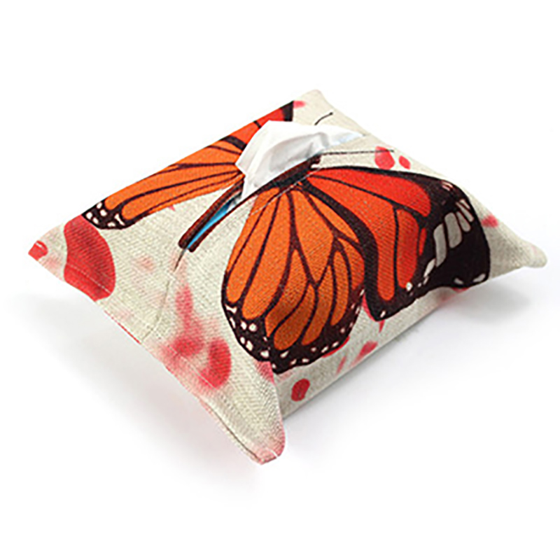Tissue Box Handmade Tissue Holder Butterfly Pattern Wood-paneled Napkin Paper Holder Case Home Car Pub Covers LRLT015(China (Mainland))