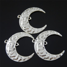 Buy 10pcs Antiqued Silver Tone Vintage Alloy Half Moon Pendant Charm Connector Jewelry Accessories 33*31*2mm for $3.17 in AliExpress store