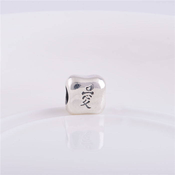 2015 NEW STYLE Chinese character charms meaning love sterling silver jewelry 925 stamped fine jewelry LW092(China (Mainland))