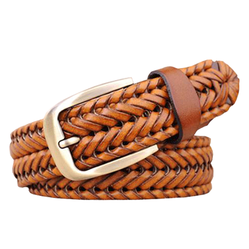 2016 New Braided Belt Man Fashion Mens belts luxury genuine leather Good Cow second layer skin straps men for Jeans girdle Male(China (Mainland))