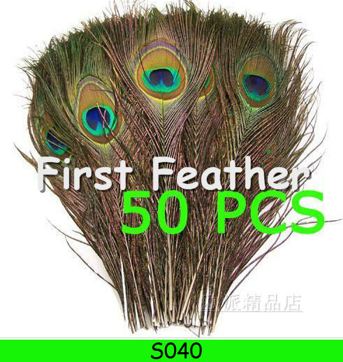 Free shipping 50pcs/lot beautiful natural peacock feathers eyes 25-30CM wedding decorations peacock feathers S040(China (Mainland))