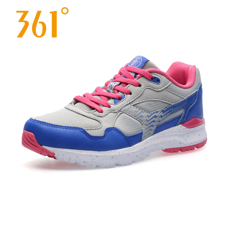 361 Womens Breathable Mesh Sports Running Shoes for Women Outdoor Lace-up Light Running Sneakers<br><br>Aliexpress