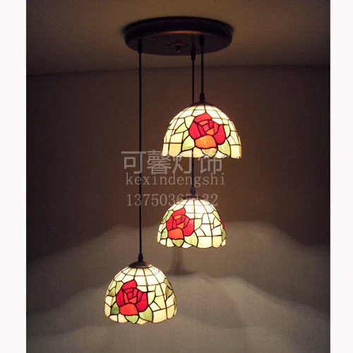 Здесь можно купить  free shipping 8 rustic red rose fashion tiffany lighting fitting stair lamp pendant light free shipping 8 rustic red rose fashion tiffany lighting fitting stair lamp pendant light Свет и освещение