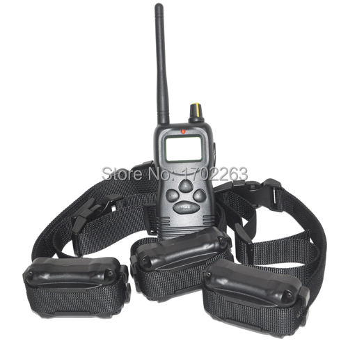 Free Shipping Electronic pet product Multi-function remote control dog training collar for 3 dogs(China (Mainland))