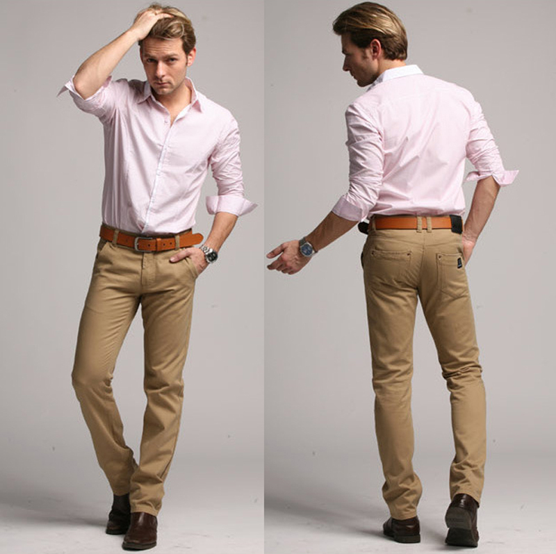 guy khaki pants - Pi Pants