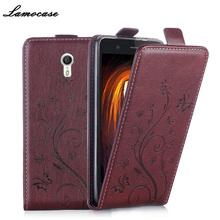 Filp Case For Lenovo ZUK Z1 Z1221 PU Leather Cover For Lenovo ZUK Z1 64Gb Strike Luxury Embossing Vertical Case Phone Bags&Cases