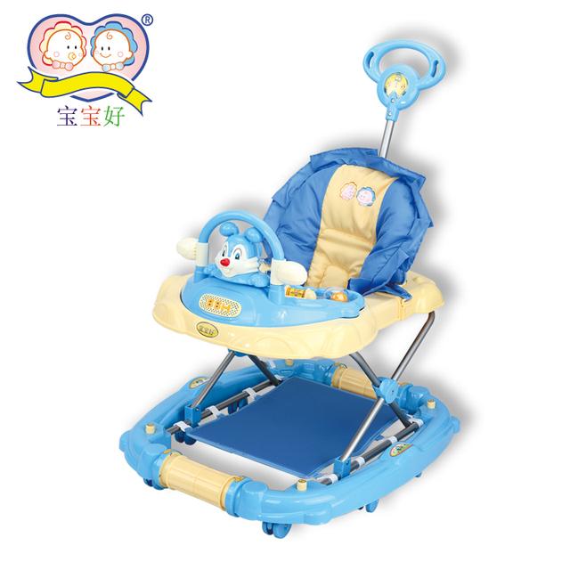 3290 dual-use luxury baby push walker rocking horse music folding rabbit toy