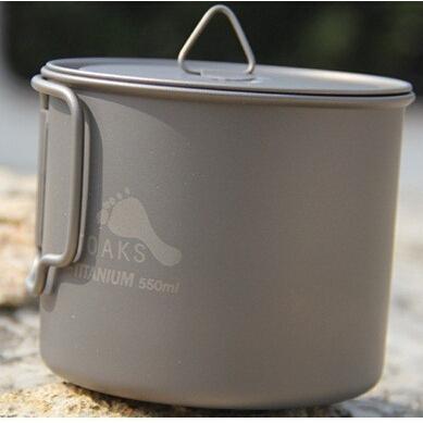TOAKS 3in1 Titanium pot /bowl/cup ultralight Titanium tableware outdoor camping Titanium tablware 550ml  88g(China (Mainland))