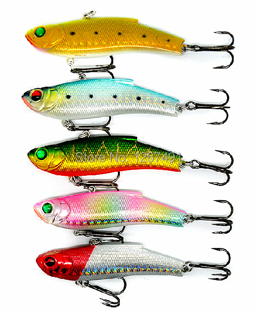 5 pcs/lot high quality fishing lures Submerged 7.5CM/18G VIB Baits  isca artificial <br><br>Aliexpress