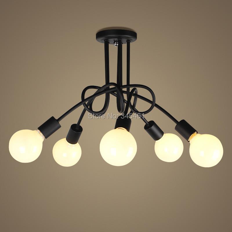 Compra negro lámpara de techo moderna online al por mayor ...