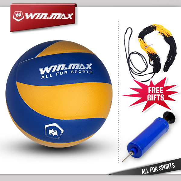 2015 winmax Official Weight and Size 5 PU Volleyball Indoor&Outdoor Training ball Match volleyball free gifts net and pump(China (Mainland))