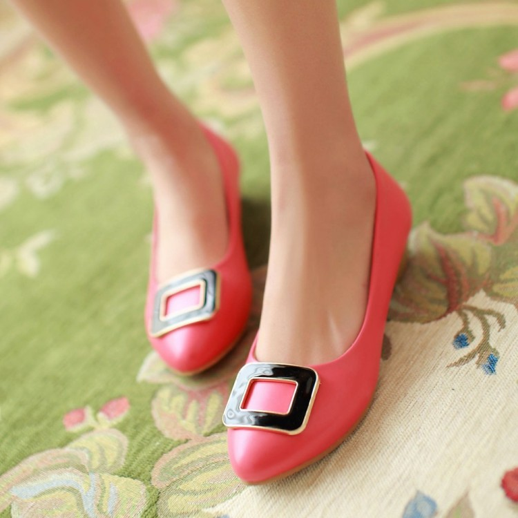 2015 Fashion casual concise Pumps low heels Shoes Brand Design round toe Women Party office work dress Shoes low price shoes(China (Mainland))