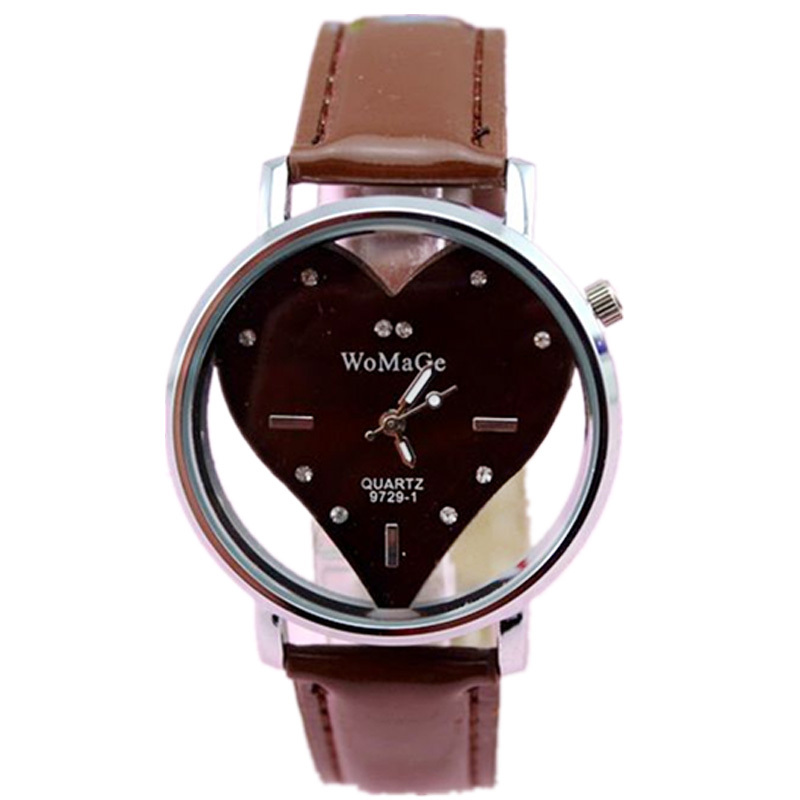 Freeshipping 38pcs/lot new arrival womage lover heart design women watch,high quality PU leather band,precise quartz movement<br>