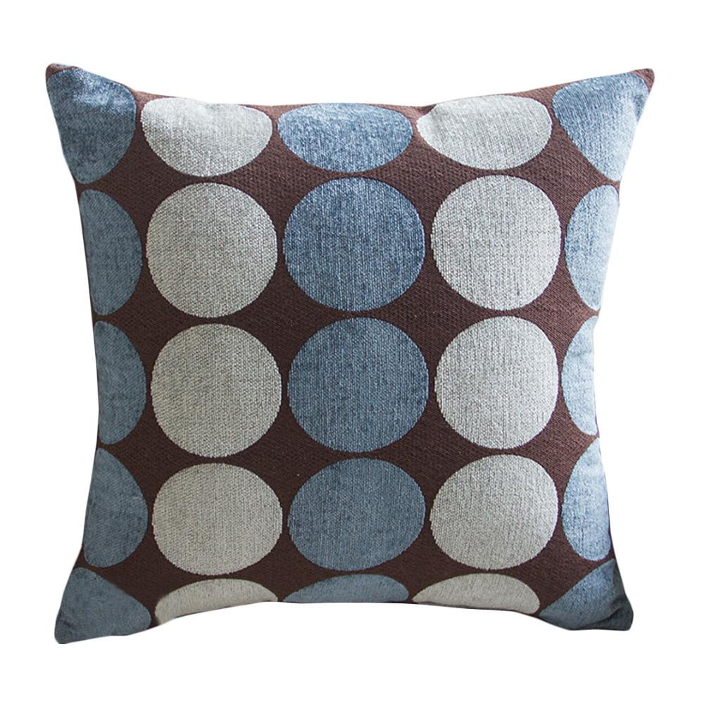 Decorative Pillows With Washable Covers : Aliexpress.com : Buy Polka Dot Soft Velvet Blue Decorative Pillow Case Machine Washable 45x45 cm ...